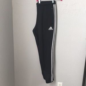 Adidas training pants with leg zippers XL